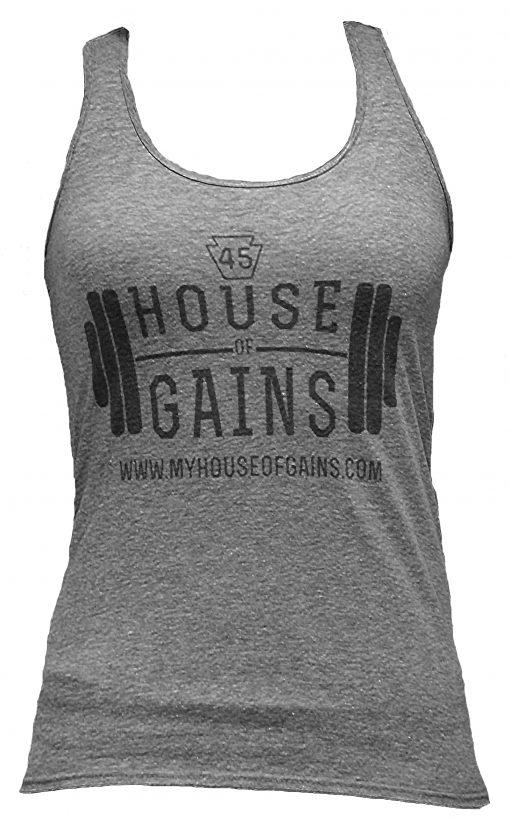 gray workout tank