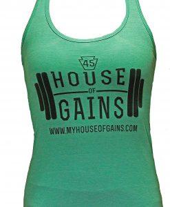 green workout tank