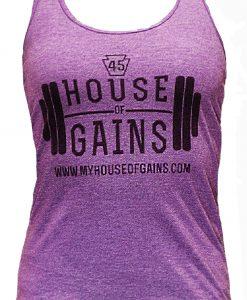 purple workout tank