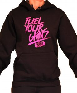 fuel your gains hoodie female