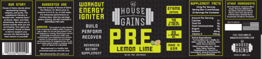 lemon lime pre workout supplement