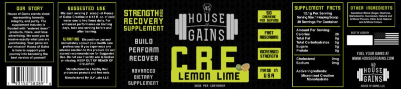 lemon lime pre workout