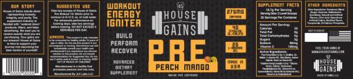 peach mango pre workout
