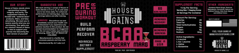 buy Raspberry margarita BCAA
