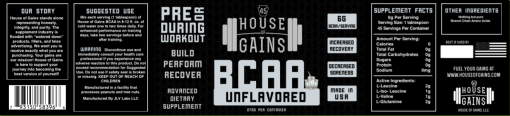unflavored BCAA