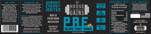 island fruit punch pre workout supplement
