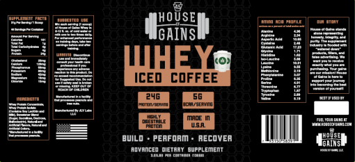 Buy iced coffee whey protein
