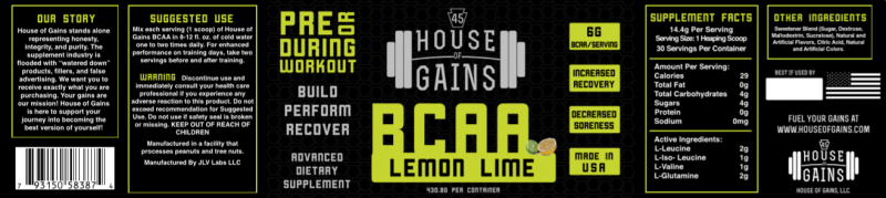 buy lemon lime BCAA