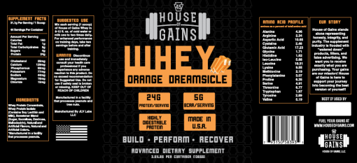 order orange dreamsicle whey