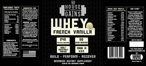 order french vanilla whey