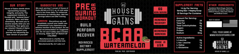 Watermelon flavored BCAA