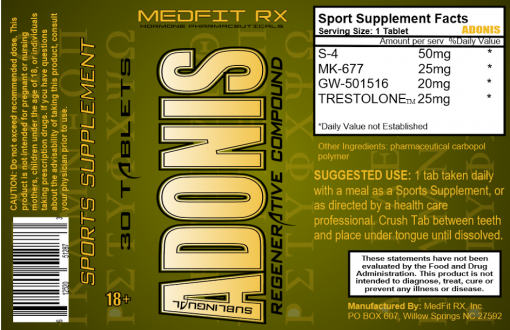 Nutritional Facts on ADONIS: 3 SARMs + Trestolone