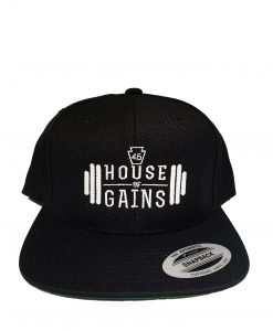 House of Gains Black Snapback