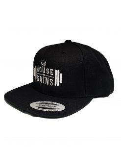 House of Gains Black Snapback hat