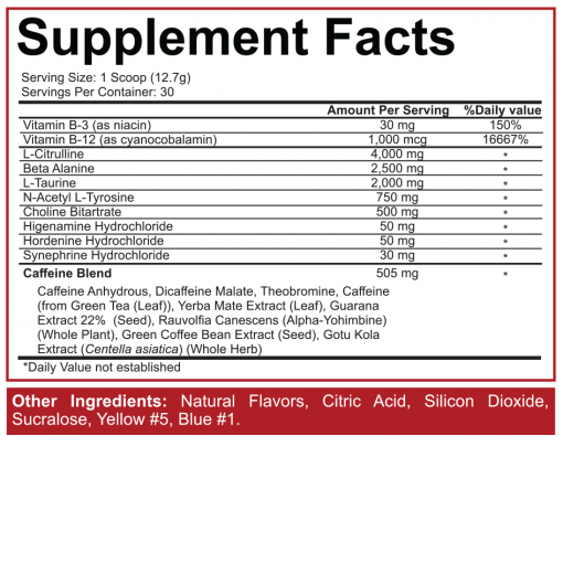 5150 pre workout supplement facts