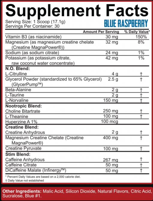 kill it reloaded supplement facts